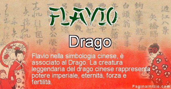 Flavio - Significato del nome in Cinese Flavio