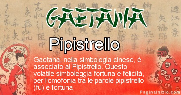 Gaetana - Significato del nome in Cinese Gaetana