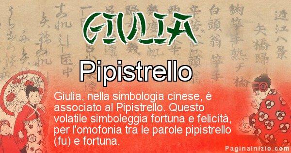 Giulia - Significato del nome in Cinese Giulia