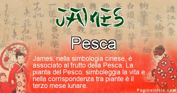 James - Significato del nome in Cinese James
