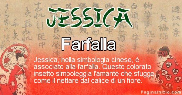 Jessica - Significato del nome in Cinese Jessica