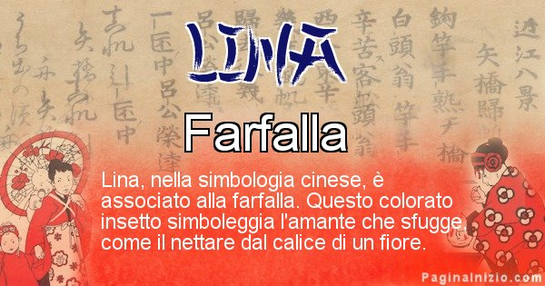 Lina - Significato del nome in Cinese Lina