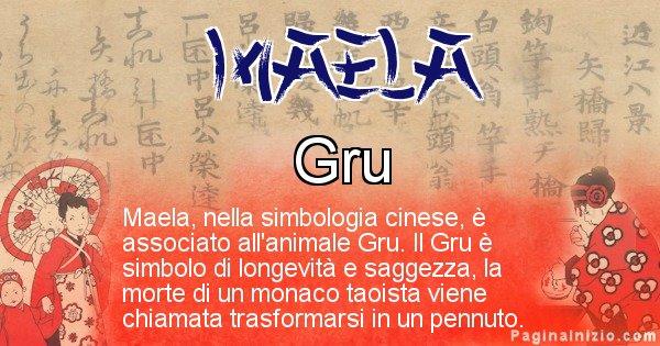 Maela - Significato del nome in Cinese Maela