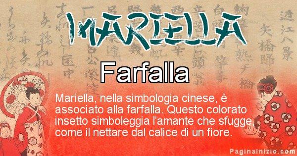 Mariella - Significato del nome in Cinese Mariella