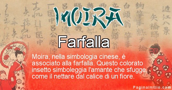 Moira - Significato del nome in Cinese Moira