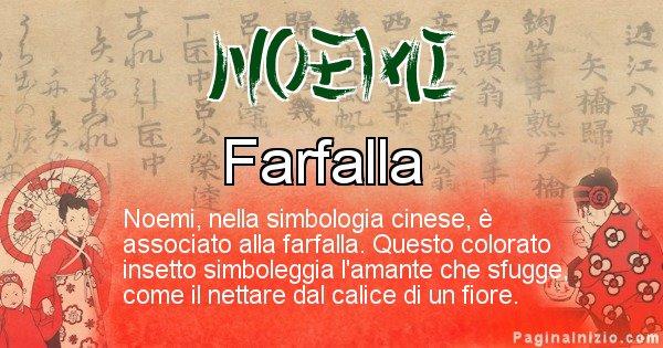 Noemi - Significato del nome in Cinese Noemi