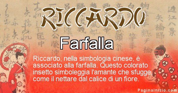 Riccardo - Significato del nome in Cinese Riccardo