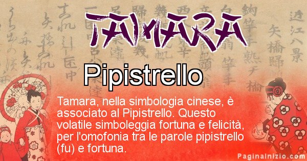 Tamara - Significato del nome in Cinese Tamara