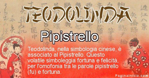 Teodolinda - Significato del nome in Cinese Teodolinda
