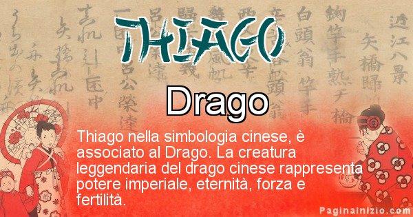 Thiago - Significato del nome in Cinese Thiago