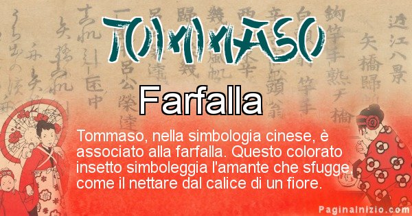 Tommaso - Significato del nome in Cinese Tommaso