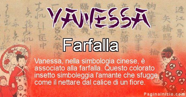 Vanessa - Significato del nome in Cinese Vanessa