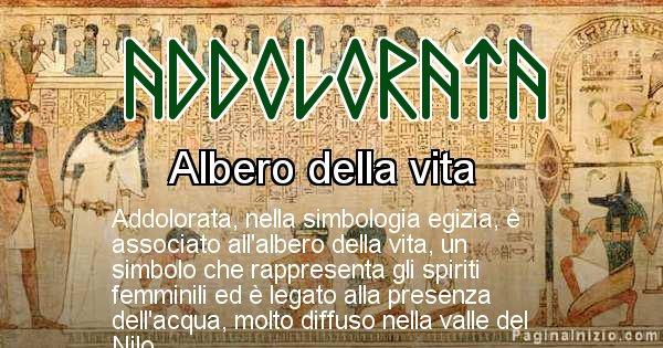 Addolorata - Significato in egiziano del nome Addolorata