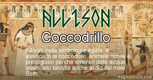 Allison - Significato in egiziano del nome Allison