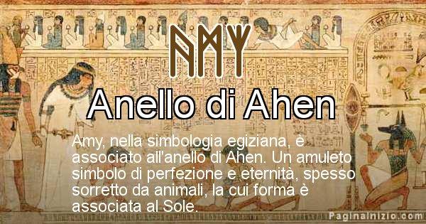 Amy - Significato in egiziano del nome Amy