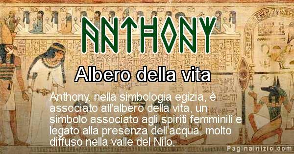 Anthony - Significato in egiziano del nome Anthony
