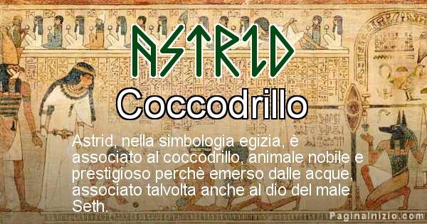 Astrid - Significato in egiziano del nome Astrid