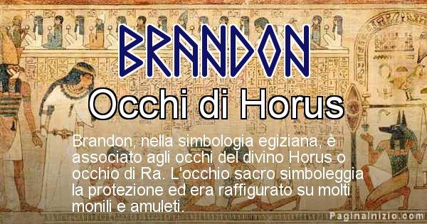 Brandon - Significato in egiziano del nome Brandon