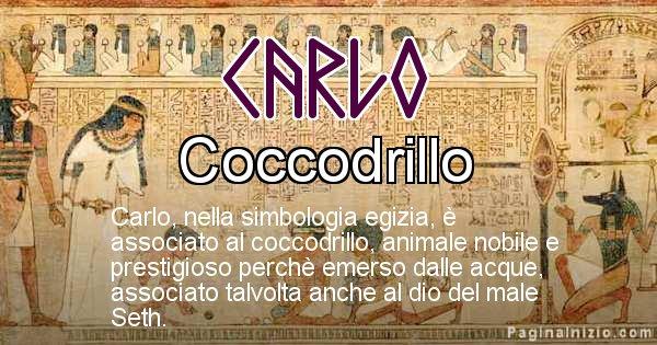 Carlo - Significato in egiziano del nome Carlo