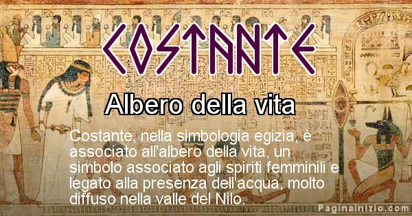 Costante - Significato in egiziano del nome Costante