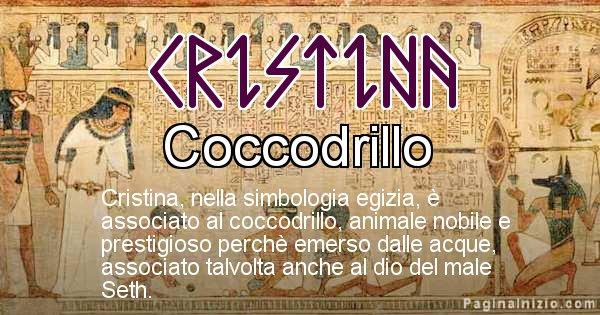 Cristina - Significato in egiziano del nome Cristina