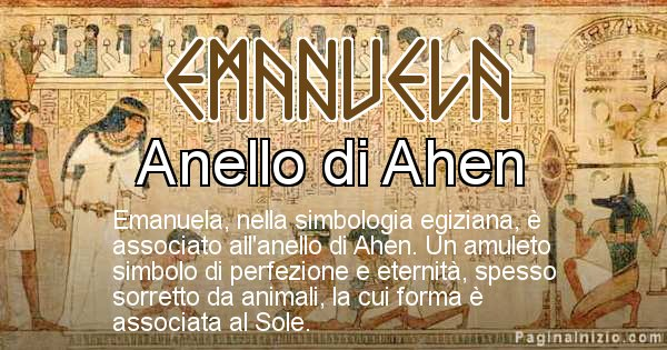 Emanuela - Significato in egiziano del nome Emanuela