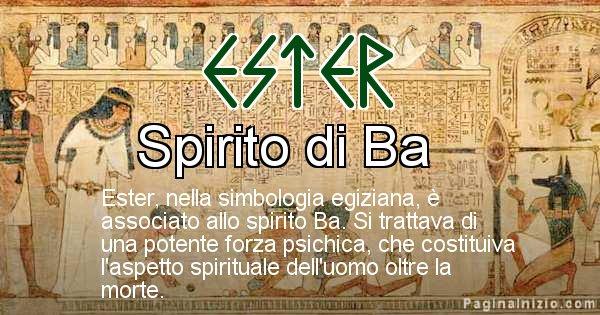 Ester - Significato in egiziano del nome Ester