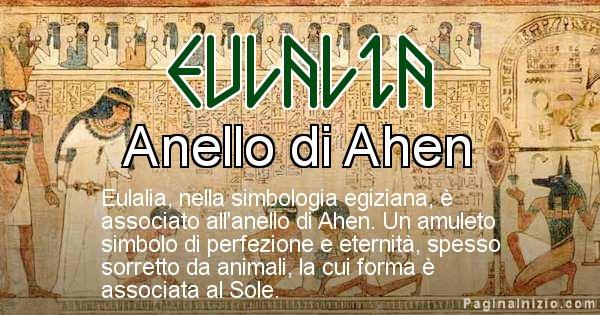 Eulalia - Significato in egiziano del nome Eulalia