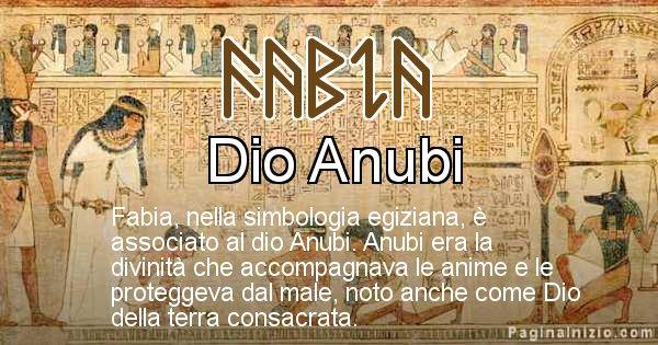 Fabia - Significato in egiziano del nome Fabia