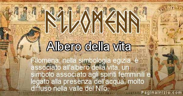 Filomena - Significato in egiziano del nome Filomena