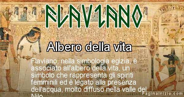 Flaviano - Significato in egiziano del nome Flaviano