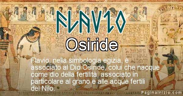 Flavio - Significato in egiziano del nome Flavio