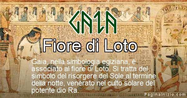 Gaia - Significato in egiziano del nome Gaia