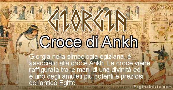 Giorgia - Significato in egiziano del nome Giorgia
