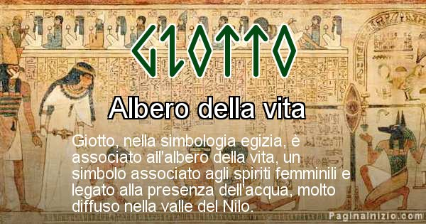 Giotto - Significato in egiziano del nome Giotto