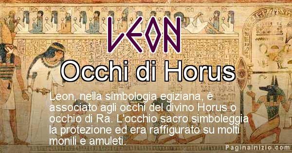 Leon - Significato in egiziano del nome Leon