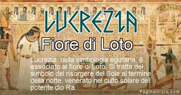 Lucrezia - Significato in egiziano del nome Lucrezia