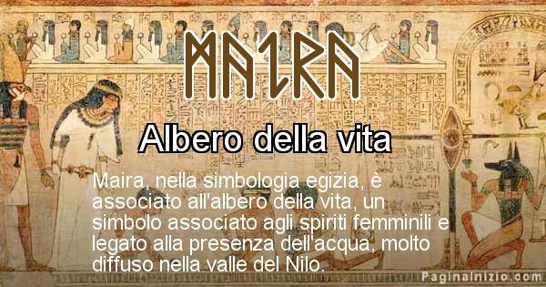 Maira - Significato in egiziano del nome Maira