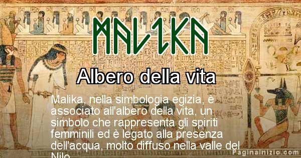 Malika - Significato in egiziano del nome Malika