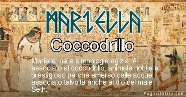 Mariella - Significato in egiziano del nome Mariella