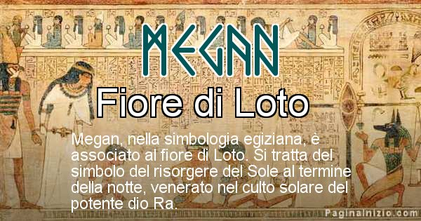 Megan - Significato in egiziano del nome Megan