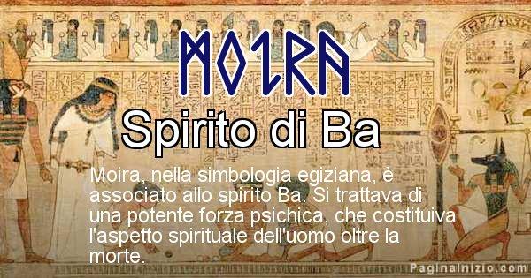 Moira - Significato in egiziano del nome Moira