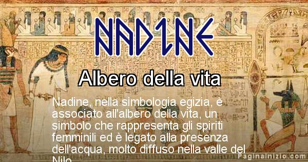 Nadine - Significato in egiziano del nome Nadine
