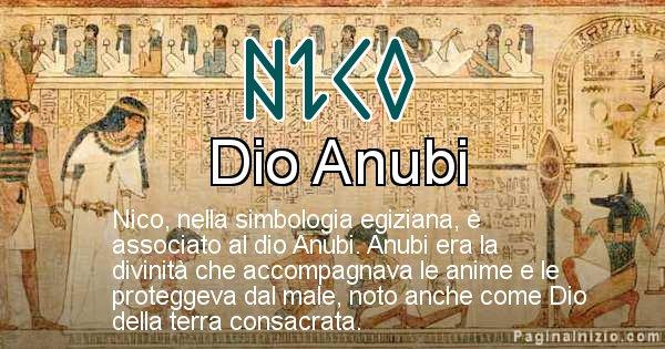 Nico - Significato in egiziano del nome Nico