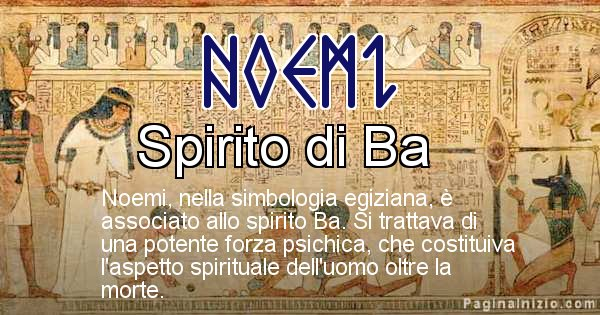 Noemi - Significato in egiziano del nome Noemi