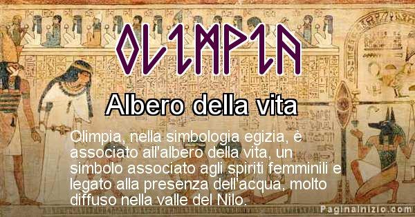 Olimpia - Significato in egiziano del nome Olimpia