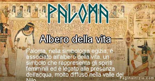 Paloma - Significato in egiziano del nome Paloma