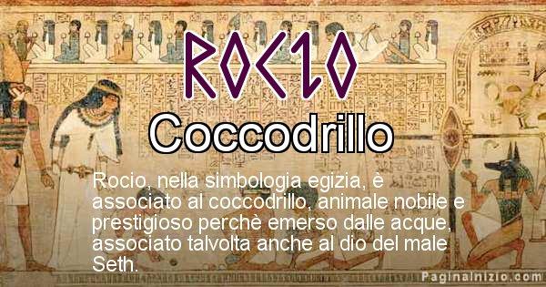 Rocio - Significato in egiziano del nome Rocio