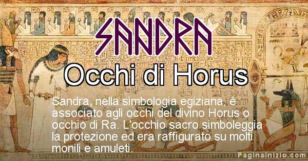 Sandra - Significato in egiziano del nome Sandra