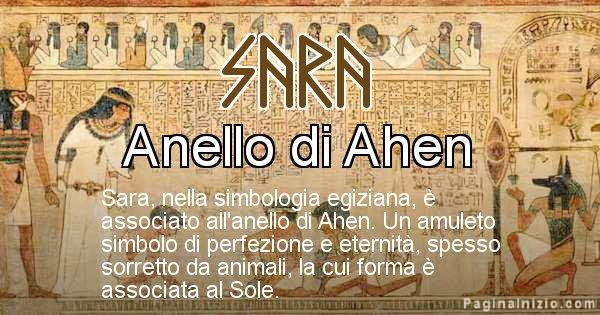 Sara - Significato in egiziano del nome Sara